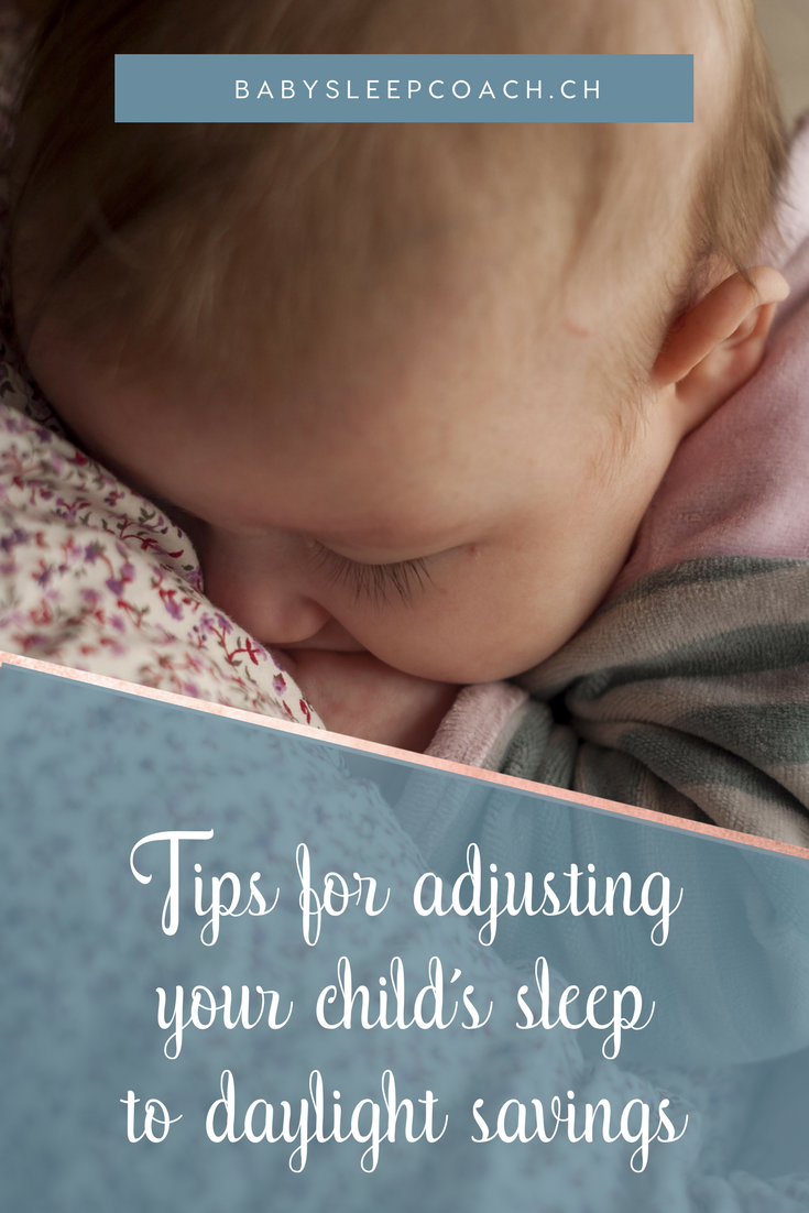 Struggling with adjusting your child's sleep to daylight savings or winter time? Here are some tips to get your child back on a good sleeping schedule! #babysleeptips #toddlersleeptips #sleepcoach #sleeptips #daylightsavings #babysleephelp #sleeptraining