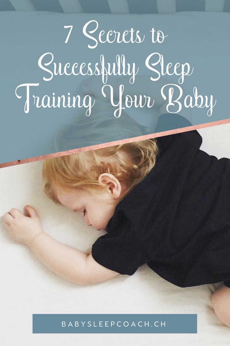 Get a sleep coach's secrets to successfully sleep training your baby. #babysleep #sleeptips #sleepcoach #sleepcoaching #sleeptraining