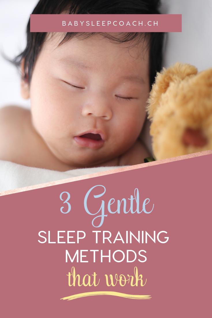 Sleeping baby illustrating the 3 gentle sleep training methods