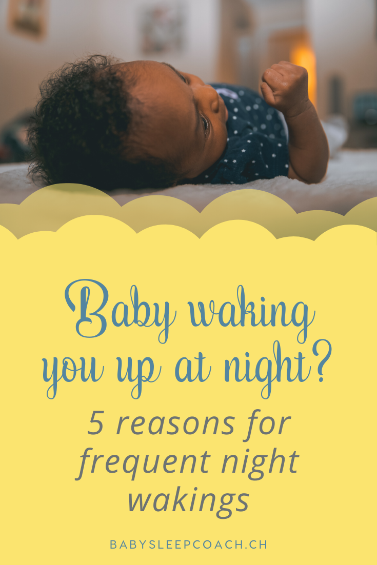 5 reasons why your baby wakes up in the night pin image